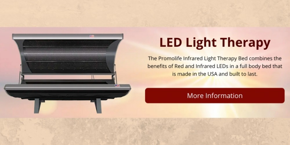 LED light therapy bed banner