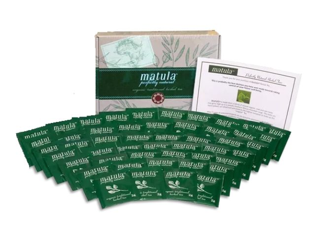 matula tea packets banner