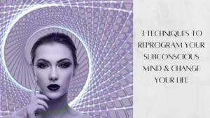 3 Techniques To Reprogram Your Subconscious Mind - Woman In Purple Spiral