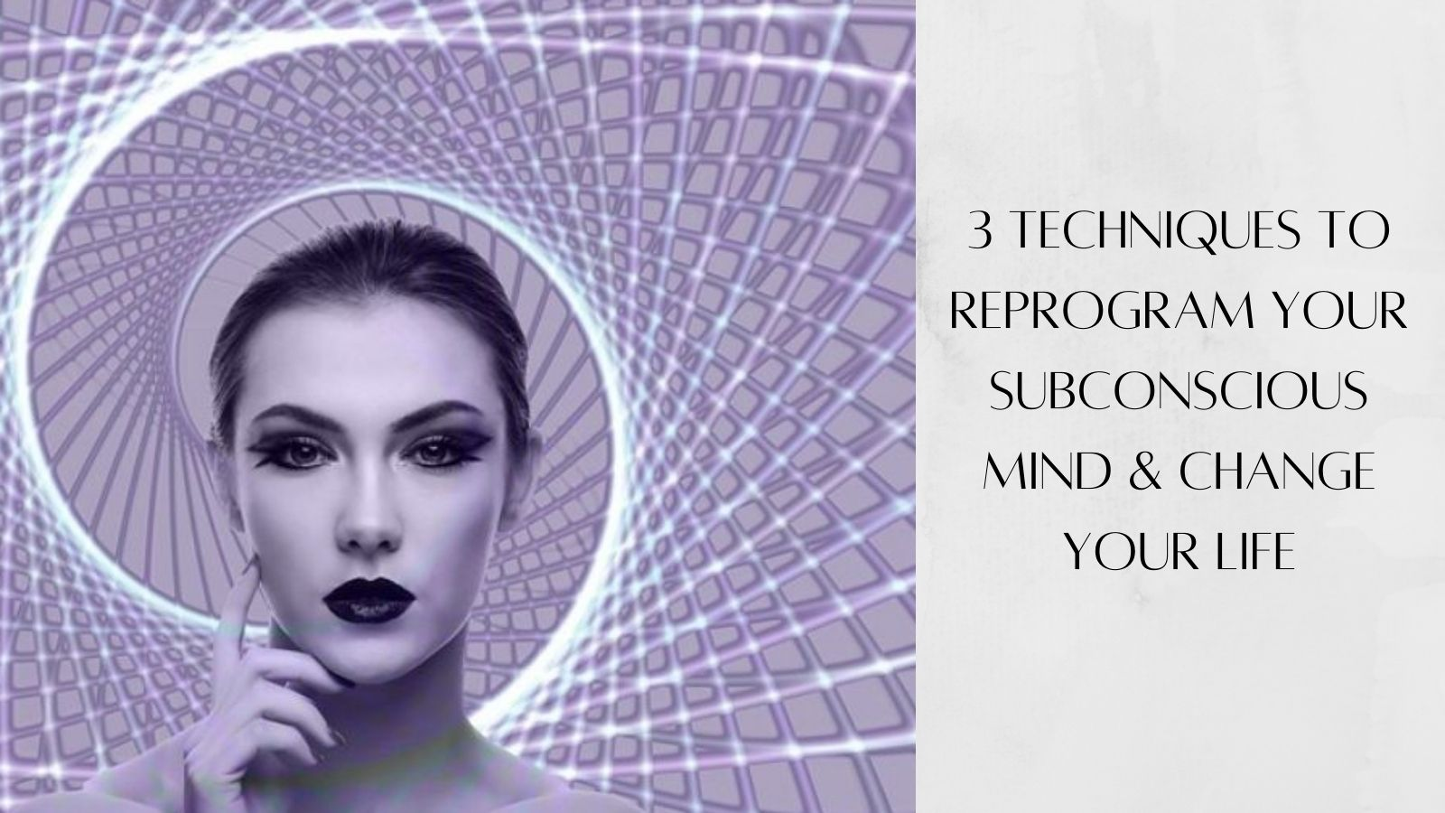 How To Reprogram Your Subconscious Mind - Woman In Purple Spiral