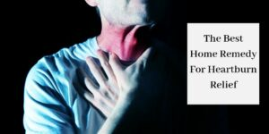 man holding hands to inflamed throat