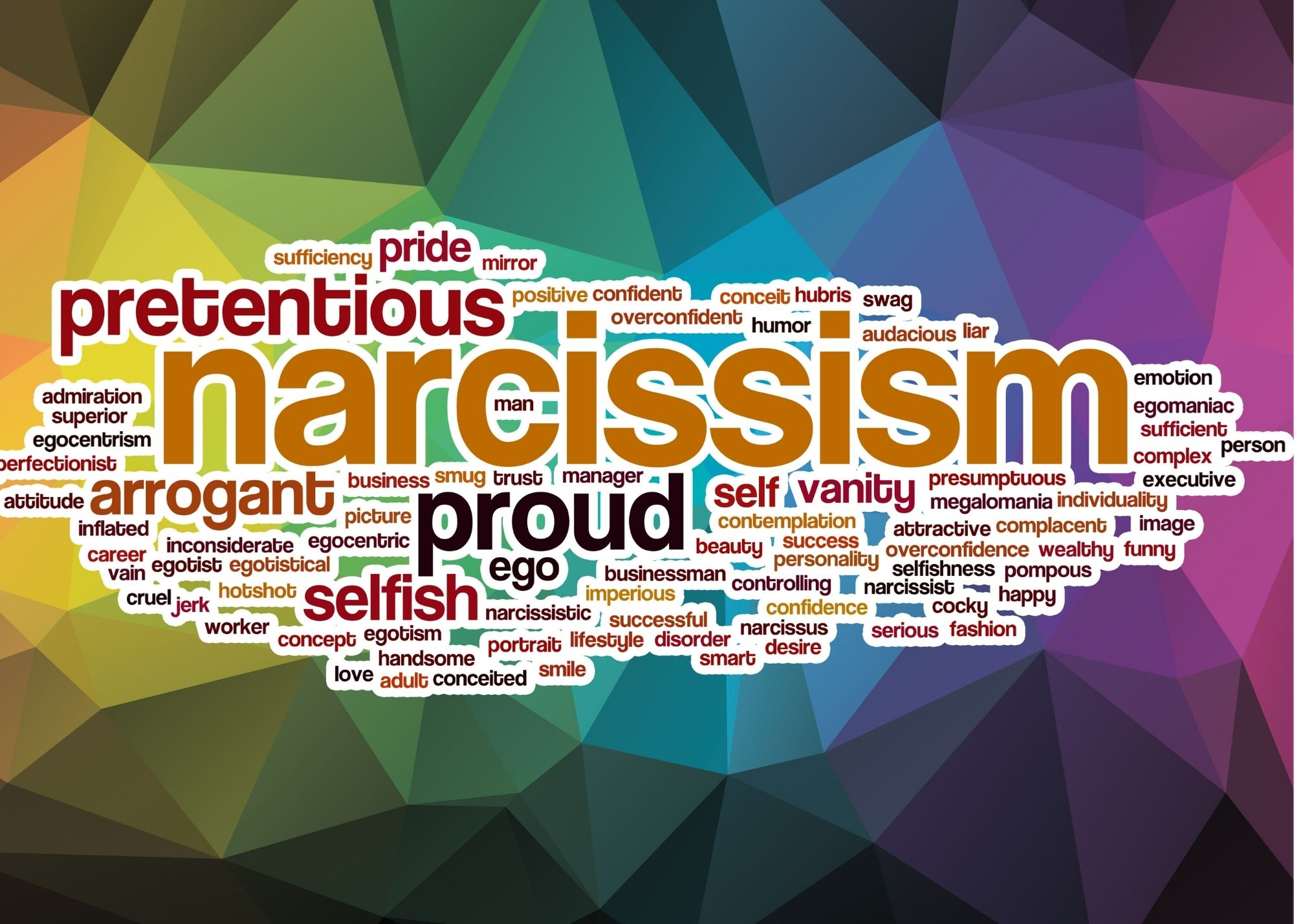5 Characteristics Of A Narcissist - Narcissism Traits Graphic