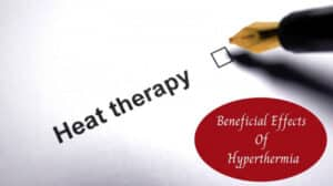 "Whole Body Hyperthermia - The Words ""Heat Therapy"" With Checkmark Box"