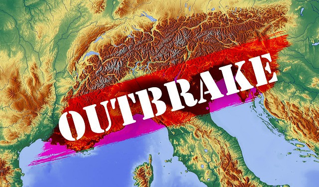 """Coronavirus And Snakes - The Word """"Outbrake"""" On Map"""