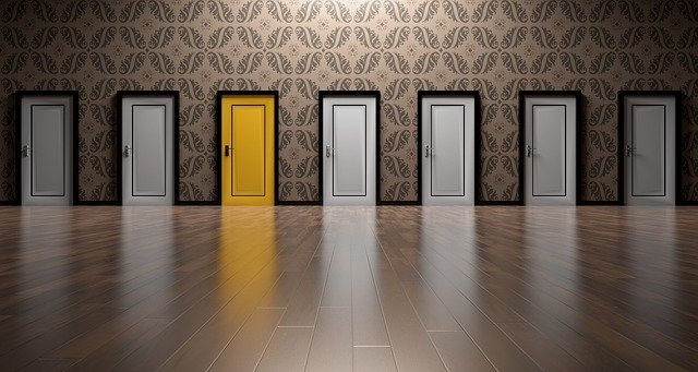 What Is Decision Fatigue - Row Of Doors With One Yellow