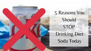 STOP Drinking Diet Soda Today - Coke Can With X On Top