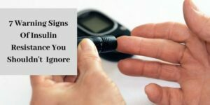 signs of insulin resistance - man using glucometer